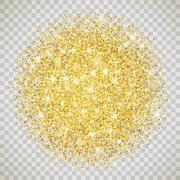 Gold glitter texture with sparkles - stock illustration