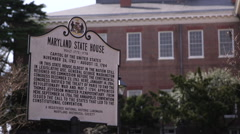Maryland State House Sign Stock Footage