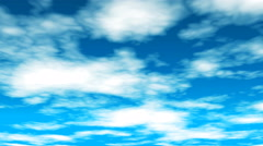 Broadcast Clouds Fly Through, Blue, Sky, Abstract, Loopable, 4K Stock Footage