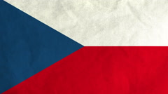 Czech flag waving in the wind (full frame footage) Stock Footage