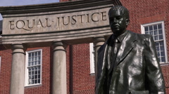 Thurgood Marshall Statue Maryland State House Rack Focuses Stock Footage