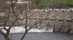 American River dams, spillway Nimbus.zoom out - stock footage