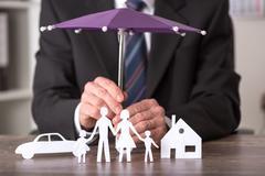 Concept of insurance Stock Photos