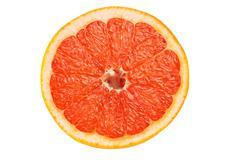 Slice of red grapefruit Stock Photos