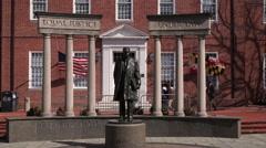 Thurgood Marshall Statue Maryland State House Stock Footage