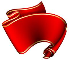 Swirl red ribbon Stock Illustration