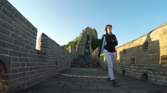 The Great Wall of China Near Beijing, China, Asia. - stock footage
