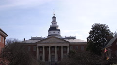 Maryland State House Front Medium Stock Footage