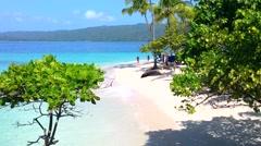 Paradise beach at cayo levatado, samana, domenican republic Stock Footage