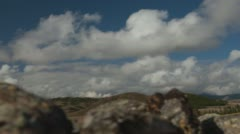 Clouds on a background of mountains. Altai, Siberia. Time lapse. Stock Footage