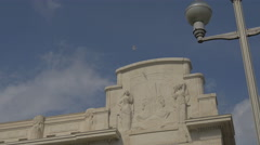 Bas-relief on a building in Nice Stock Footage
