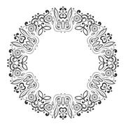 Stock Illustration of Abstract Ornate Mandala. Decorative frame for design