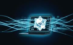 Internet broadband Laptop - stock illustration