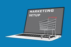 Marketing Setup concept - stock illustration