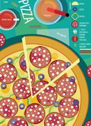 Recipe of pizza - stock illustration