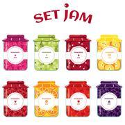 Stock Illustration of Set of summer jams