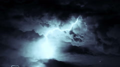Heavy lightning storm loop Stock Footage