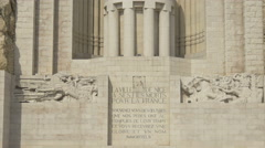 Tilt up view of the war memorial (Monument aux Morts) in Nice Stock Footage