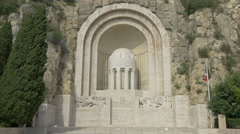 The Big Bullet War Memorial (Monument aux Morts) in Nice Stock Footage