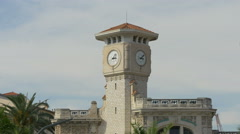 The clock tower of Lycée Masséna in Nice Stock Footage