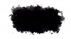 Black ink style mattes Stock Footage