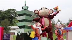 Taipei Lantern Festival 2016 Stock Footage