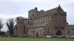 Lanercost Priory Abbey England ruins ancient historic building 4K Stock Footage