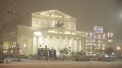 Bolshoi Theatre and Tsum superstore, Moscow, Russia Stock Footage