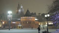 Zaikonospassky Monastery, Moscow, Russia Stock Footage