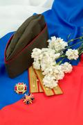 Flowers And Army Stock Photos