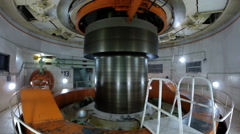generator of Itaipu hydroelectric power plant - Foz do  Iguacu, Brazil - stock footage