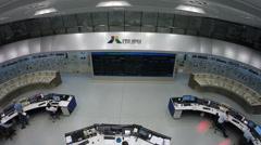 control room of Itaipu hydroelectric power plant - Foz do  Iguacu, Brazil - stock footage
