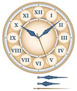 Clock Roman Numerals - stock illustration