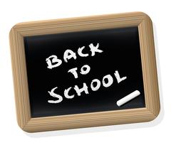 Back To School Blackboard Retro Style - stock illustration