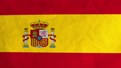 Spanish flag waving in the wind (full frame footage) Stock Footage