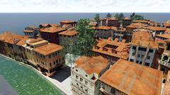 Venetian landscape - stock illustration