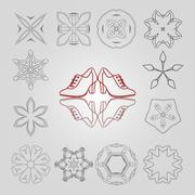 Set of vector stars, colors and circular patterns with two pairs of women's - stock illustration