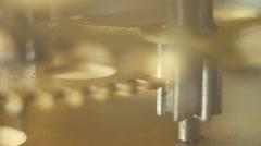 Old clockwork. motion Stock Footage