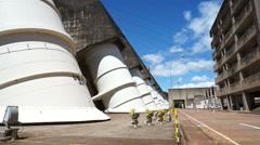 Itaipu hydroelectric power plant - Foz do  Iguacu, Brazil - stock footage