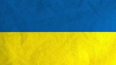 Ukrainian flag waving in the wind (full frame footage) Stock Footage