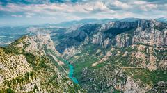 Beautiful landscape of the Gorges Du Verdon in France - stock photo
