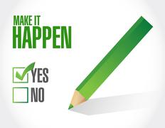 make it happening approval sign concept - stock illustration