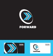 Moving forward arrow logo icon - stock illustration