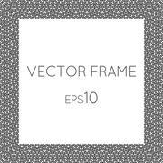 Vector square flower frame for text, images, monograms, photo frames - stock illustration