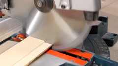 Using miter saw Stock Footage