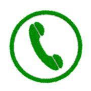 Grass Green Phone Symbol Shape on White Background 3D Illustration - stock illustration