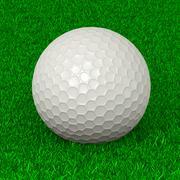 Golf Ball on Grass Sport Equipment 3D Illustration Stock Illustration