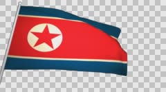 Flag North Korea Stock Footage