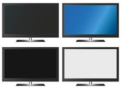 Illustration Graphic Vector Flatscreen with Copyspace - stock illustration