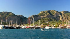 Gocek Marina, One of the most well known departure, arrival points for cruising Stock Footage